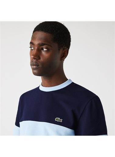 Lacoste Lacoste Heritage Erkek Regular Fit Bisiklet Yaka Renk Bloklu Mavi T-Shirt Lacivert